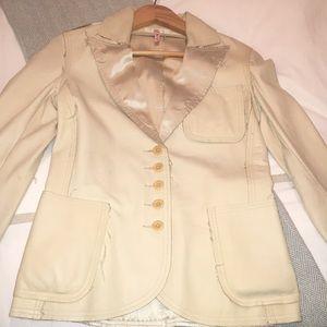 Joie leather blazer